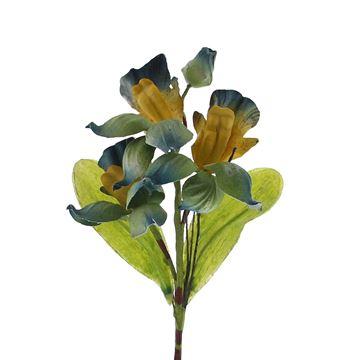 Cambria 3 bloemen blauw