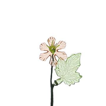 Leverbloem met blad koper