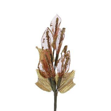 Aronskelk glitter 6 bloemen bordeaux