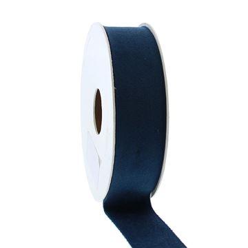 Lint Velvet deluxe 25 mm x 5 m donker blauw   44