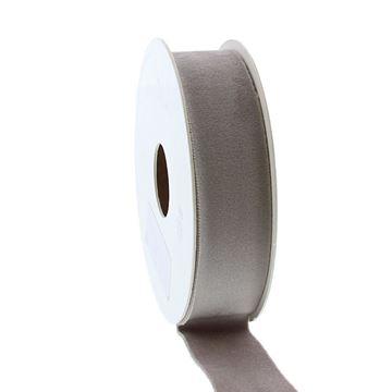 Lint Velvet deluxe 25 mm x 5 m grijs   07