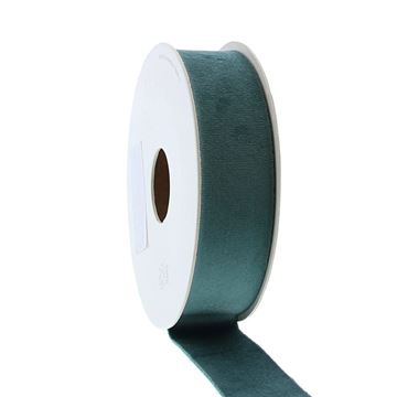 Lint Velvet deluxe 25 mm x 5 m smokey green   42