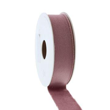 Lint Velvet deluxe 25 mm x 5 m vieux roze   16