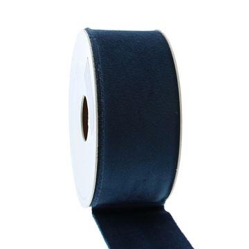 Lint Velvet deluxe 40 mm x 5 m donker blauw   44
