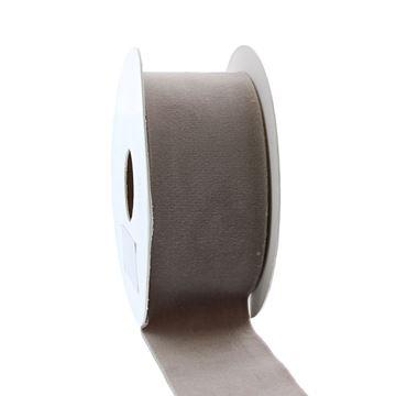 Lint Velvet deluxe 40 mm x 5 m grijs   07