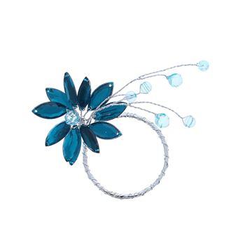 Lewisia 1 bloem met parels cyaan