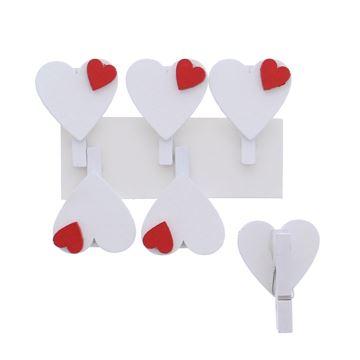 Little heart speld wit/rood
