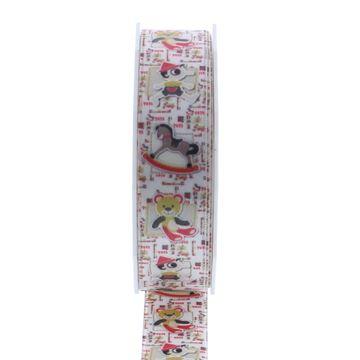 Lint Toys 25 mm x 20 m kleur 140 wit