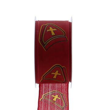 Lint mijter 40 mm x 20 m kleur 120 rood