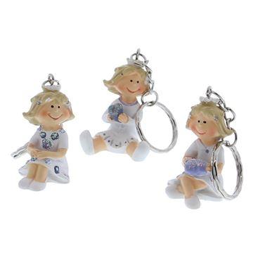 Prinses zittend sleutelhanger