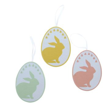 Dotty Bunny deco hanger medium