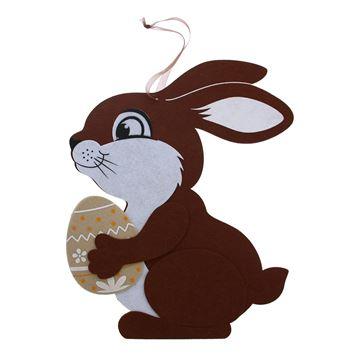 Fuzzy konijn deco hanger GM donker bruin