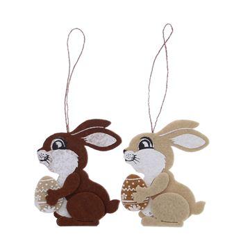 Fuzzy konijn hanger KM