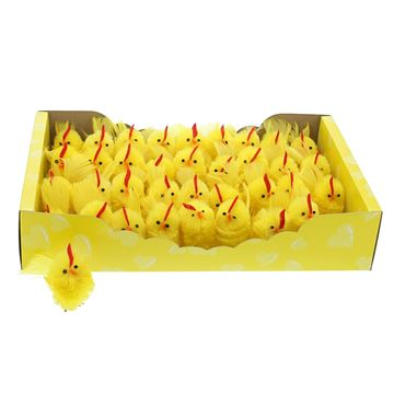 Haan met pluim 5cm geel