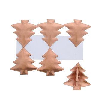 Rosé brons kerstboom speld