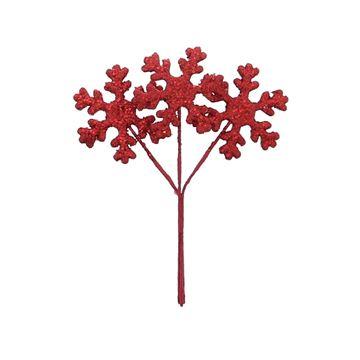 Ijskristal op steel rood
