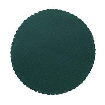 Katoen 8025 25cm rond donker groen 8