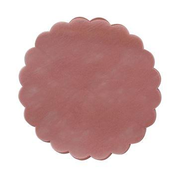 Polyfilm 24cm rond oud roze       R32