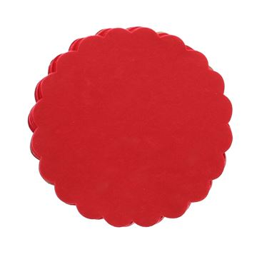 Polytulle 24 cm rond rood  I38