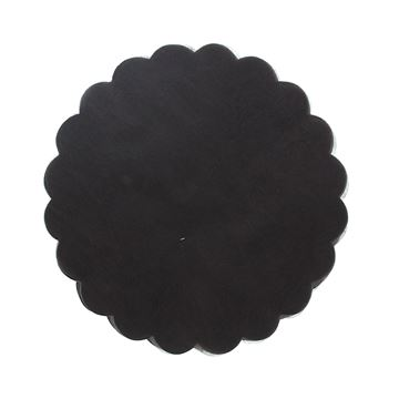 Polytulle 24 cm rond donkerbruin  I27