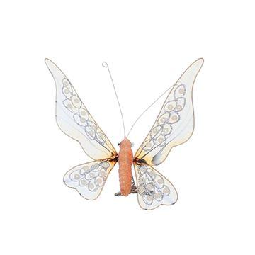 Vlinder paillette knijper oranje