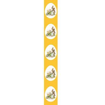 OB Banner Retro rabbit 25 x 245 cm geel