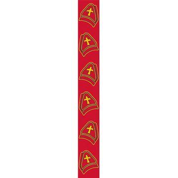 OB Banner Mijter Sinterklaas 25 x 245 cm rood