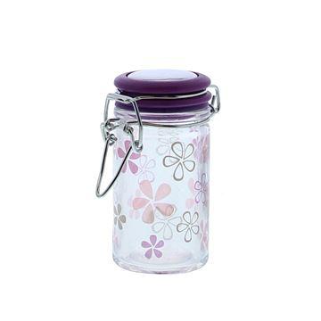Flower bokaal met ijzersluiting KM paars