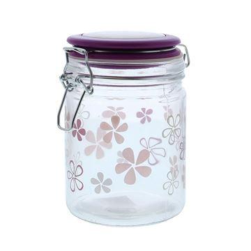 Flower bokaal met ijzersluiting GM paars