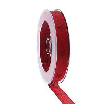 Lint Sternenpracht 15 mm x 20 m rood kleur 020