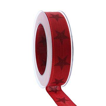 Lint Sternenpracht 25 mm x 20 m rood kleur 020