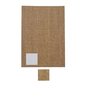 Sticker vierkant op A4 55 x 55 mm kraft