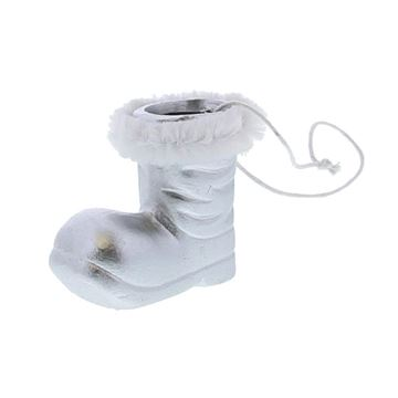 Santas boot hanger zilver