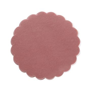 Polytulle 24 cm rond oud roze   I45