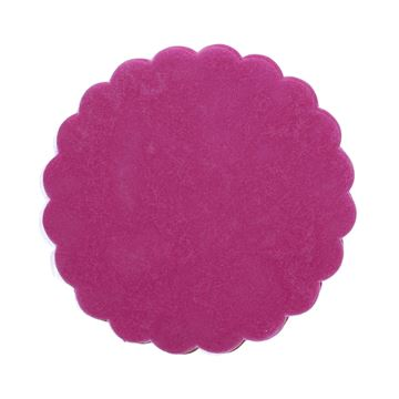 Polytulle 24 cm rond framboos