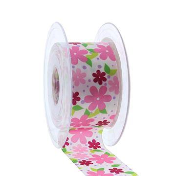Lint Blumenwiese 40mmx20m kleur 1236 roze