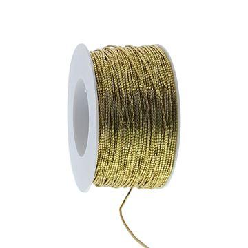 Ronde elastische koord 2mm x 100m kleur 15 goud