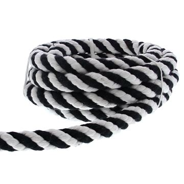 Koord Cotton Twist 20 mm x 3 m kleur 85 zwart