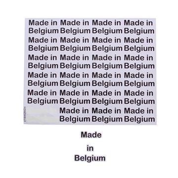 Sticker blinkend Made in Belgium GM zwart