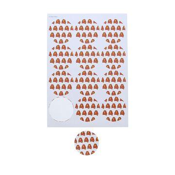 Sticker 6,35 cm Mijter klein witte achtergrond