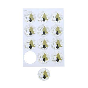 Sticker 6,35 cm Pines + text