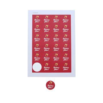 Sticker 4 cm Bonnes fêtes