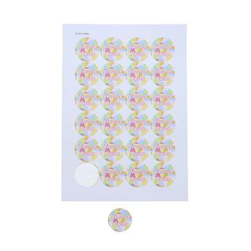 Sticker 4 cm Gekko design Vrolijk Pasen