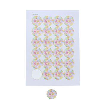 Sticker 4 cm Gekko design Joyeuses Pâques