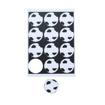 Sticker 6,35 cm voetbal