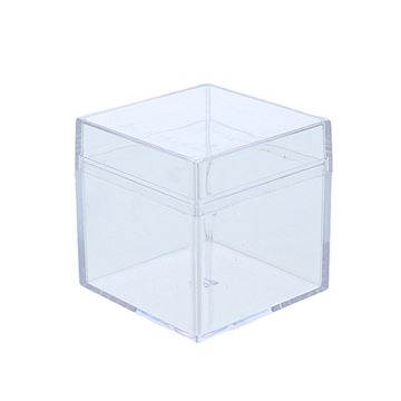 Plexi kubus met deksel 5 cm