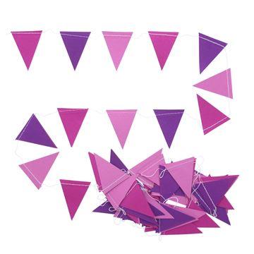 Guirlande vlag 3 kleuren roze
