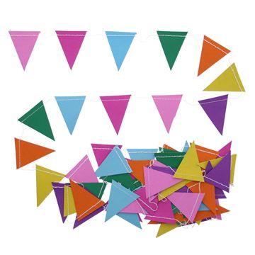 Guirlande vlag 6 kleuren