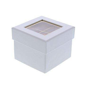 Doos venster kubus 2 verdiepingen wit