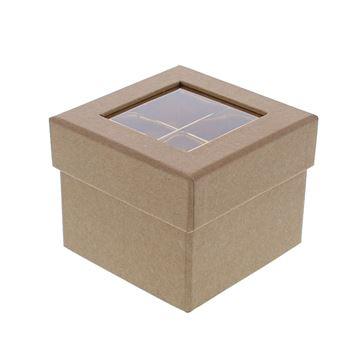 Doos venster kubus 2 verdiepingen kraft